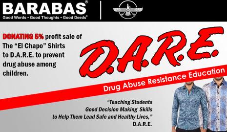 La page d'accueil de Barabas Apparel