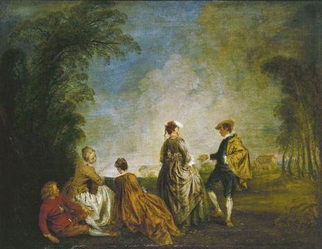 """La Proposition embarrassante"" d'Antoine Watteau"