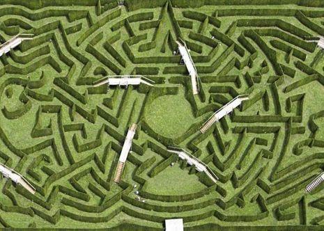A Thoiry, un labyrinthe de haies peut accueillir jusqu'à 1 000 visiteurs par heure.