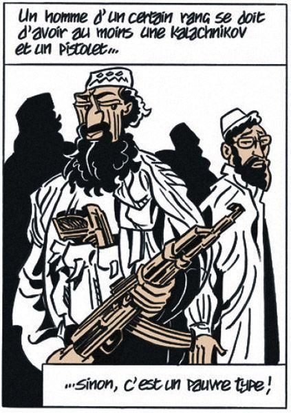 … et un guerrier pashtou de la province de Khyber Pakhtunkhwa dessiné par Hubert Maury.