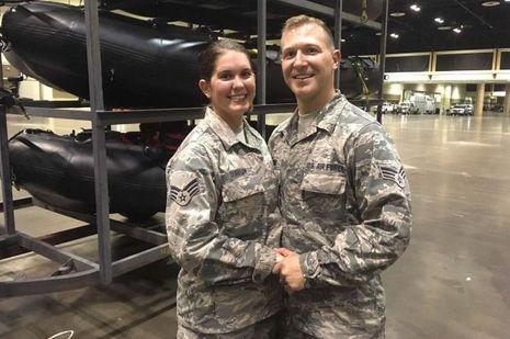 Lauren Durham et Michael Davis, les jeunes secouristes mariés durant Irma.