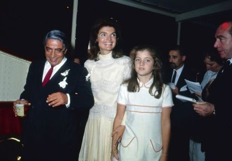 Le mariage de Jackie et d'Aristote Onassis, sur l'île de Skorpios, en Grèce, le 20 octobre 1968.