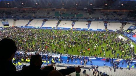 Le mouvement de panique au Stade de France