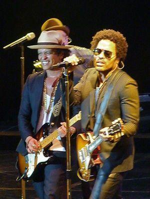 Lenny Kravitz et Bruno Mars à Paris.