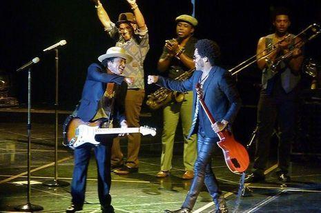 Lenny Kravitz et Bruno Mars
