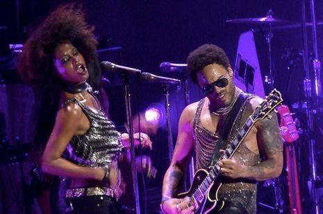 Lenny Kravitz sur la scène de Bercy.