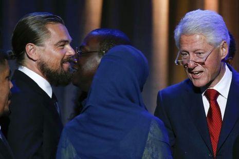 Leo DiCaprio avec Bill Clinton en septembre 2014
