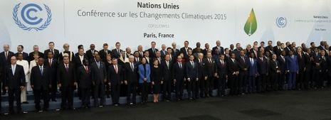 Les chefs d'Etat et de gouvernement présents à la Cop 21 le 30 novembre 2012
