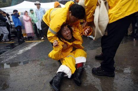 Les familles des victimes du naufrage du Ferry Sewol
