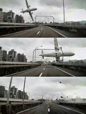 Les impressionnantes images du crash