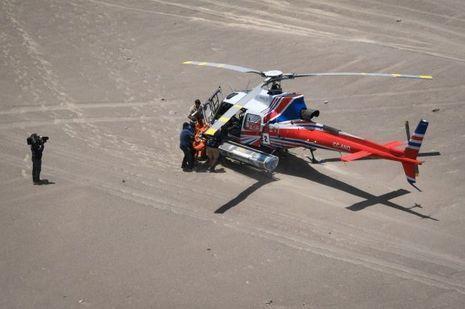 Les secours en hélicoptère sur le Dakar