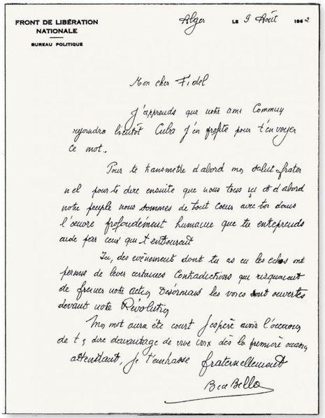 lettre ben bella castro