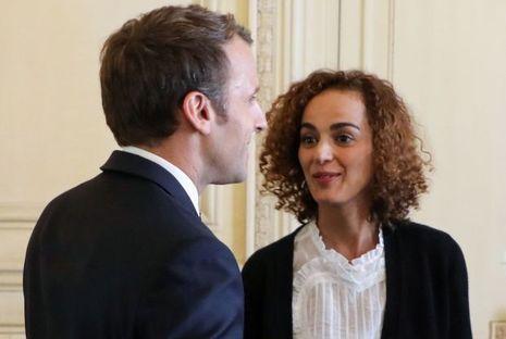 Leïla Slimani et Emmanuel Macron lundi à l'Elysée
