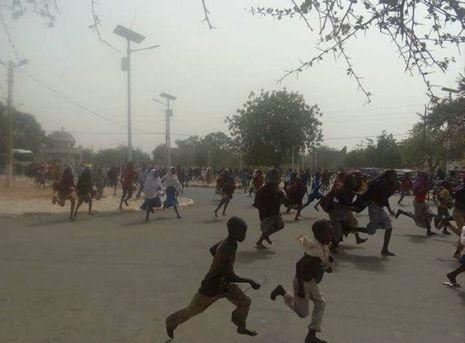 Une photo prise lors des manifestations à Maradi le 10 avril 2017