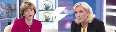 Marine Le Pen sur Radio Canada.