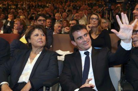 Martine Aubry et Manuel Valls, le 9 octobre dernier, à Lille.