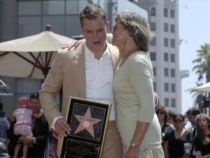 Matt Damon et sa mère, Nancy Carlsson-Paige-