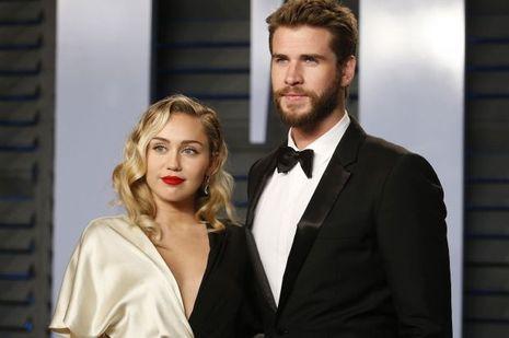 Miley Cyrus au bras de son fiancé, Liam Hemsworth