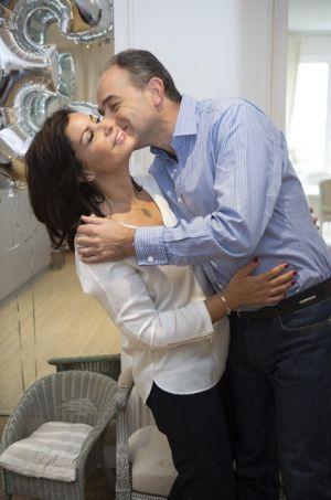 Nadia et Jean-François Copé chez eux, en 2013.
