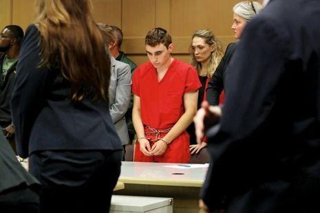 Nikolas Cruz, lors d'une audience au tribunal de Fort Lauderdale, le 19 février.