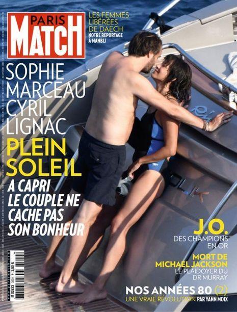 Sophie Marceau et Cyril Lignac, amoureux à Capri.
