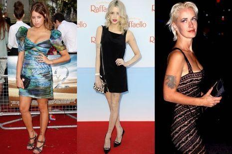 L'impressionnante évolution physique de Peaches Geldof, en mai 2010 et en juin 2013. A droite, sa mère Paula Yates.
