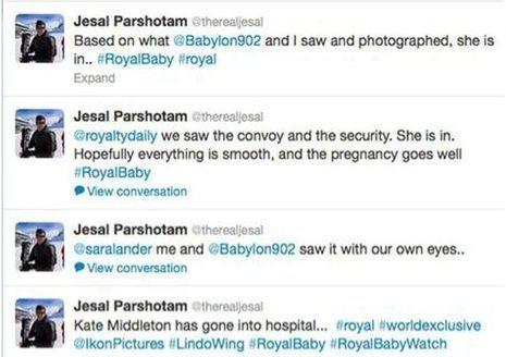 Photographe twitter royal baby