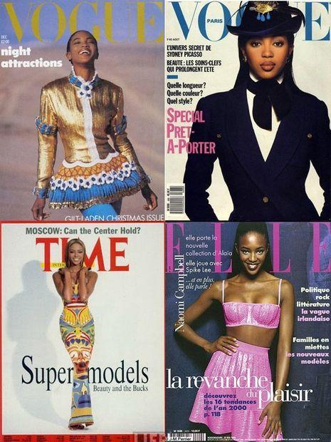 Premières couverture de magazines de Naomi Campbell