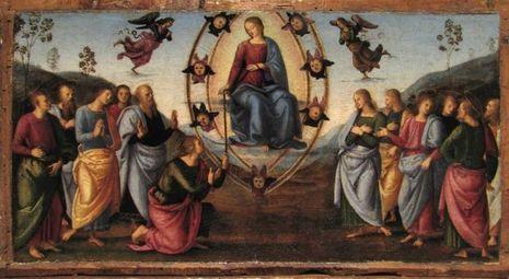 Raphaël, retable de Fano, prédelle représentant des épisodes de la Vie de la Vierge, l'Assomption, 1497