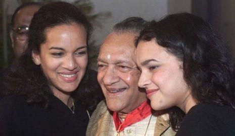 Ravi Shankar et ses filles Anoushka et Norah Jones-