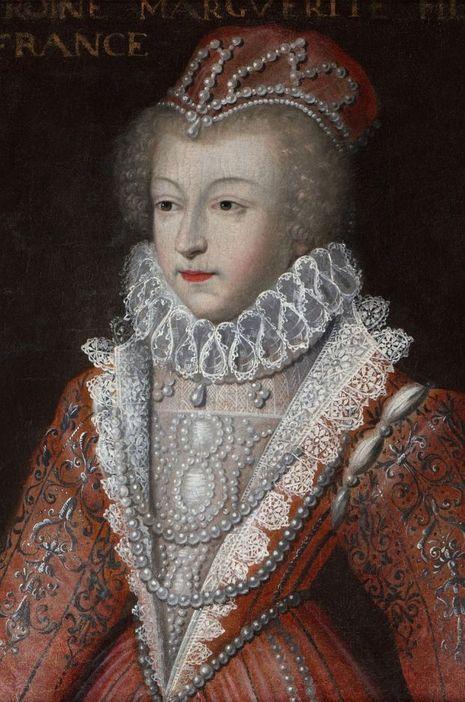"""""""Marguerite de Valois, dite la reine Margot"""", d'après Clouet, tableau conservé au château de Blois"""
