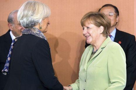 Angela Merkel et Christine Lagarde à Berlin le 13 mai dernier