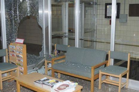 L'intérieur de l'école Sandy Hook, après la tuerie. L'établissement a depuis été rasé.