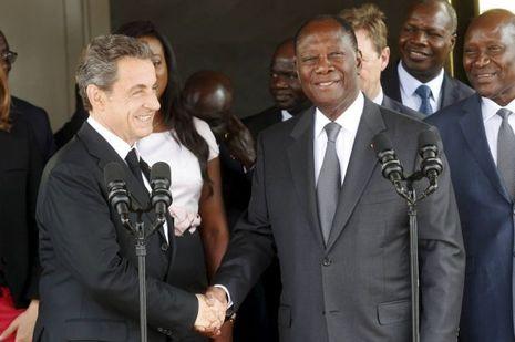 Sarkozy et Ouattara