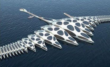 Inspiré de la forme d'un poisson, le Morphotel ressemble à un vaisseau extraterrestre.