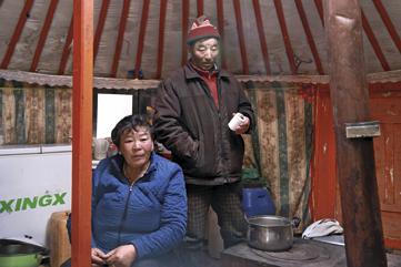 Purevkhuu et sa famille