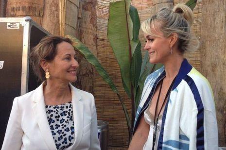 Ségolène Royal et Læticia Hallyday