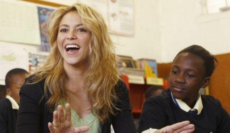 Shakira école afrique du sud-