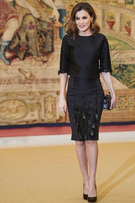 La reine Letizia d'Espagne à Madrid, le 17 avril 2018