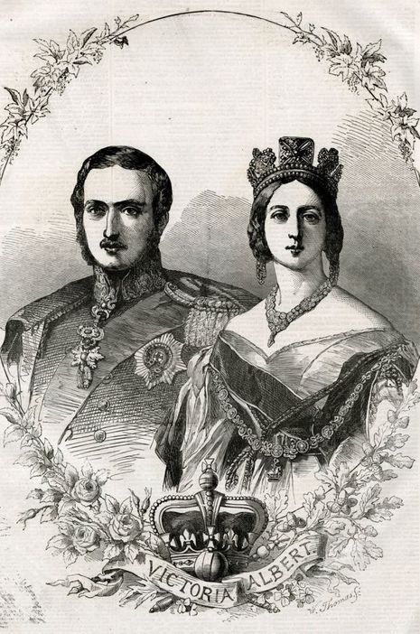 La reine Victoria et son mari le prince consort Albert en 1855