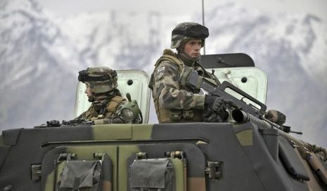 Soldats français en Afghanistan à Tagab-
