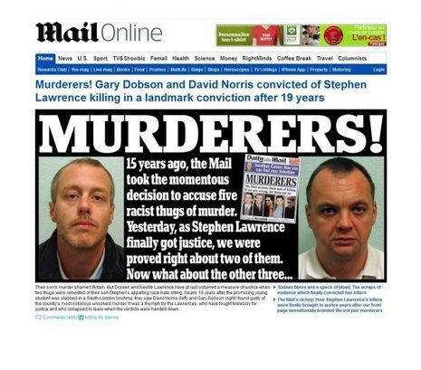 Stephen Lawrence Daily Mail 2012-