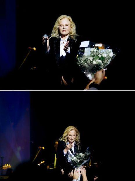 Sylvie Vartan sur la scène de l'Olympia, le 15 septembre 2017.