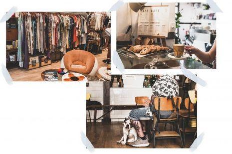 """La boutique """"Magpie Vintage"""" et le Toma Café."""