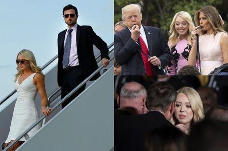 Tiffany Trump photographiée à la descente d'Air Force One et à la Maison Blanche, en avril et mai 2017.
