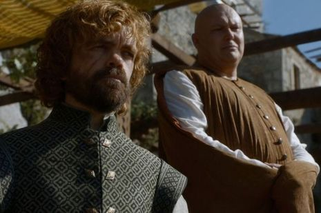 "Tyrion et Varys dans ""Game of Thrones""."