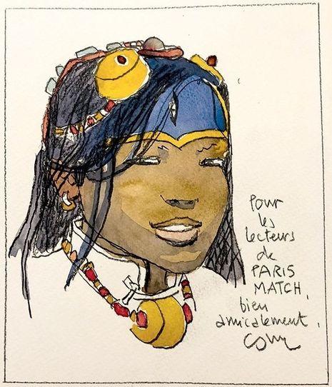 Un portrait signé Cosey pour les lecteurs de Paris Match...