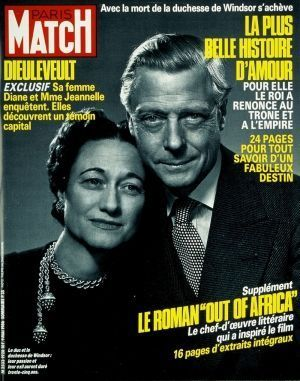 La une de Paris Match en 1973 lors du décès du duc de Windsor.