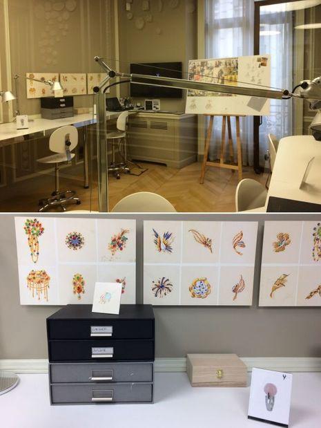 L'atelier de dessin de l'école Van Cleef.