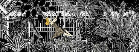 Vitrine Le Bon Marché 160 ans Marjane Satrapi Catherine Deneuve jardin des plantes-